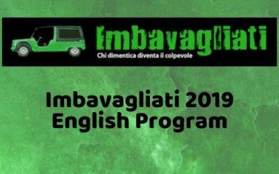 IMBAVAGLIATI 2019 – English Program